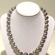 Faux Tahitian Grey Pearl Princess Necklace