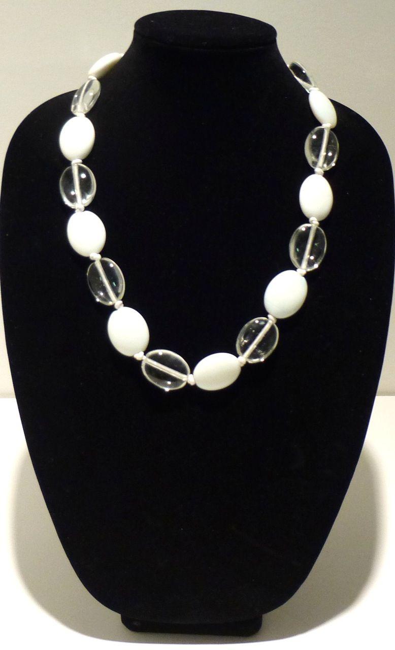 1980s Vintage Artisan Glass Pebble Necklace