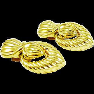 CINER Doorknocker Earrings - 80s