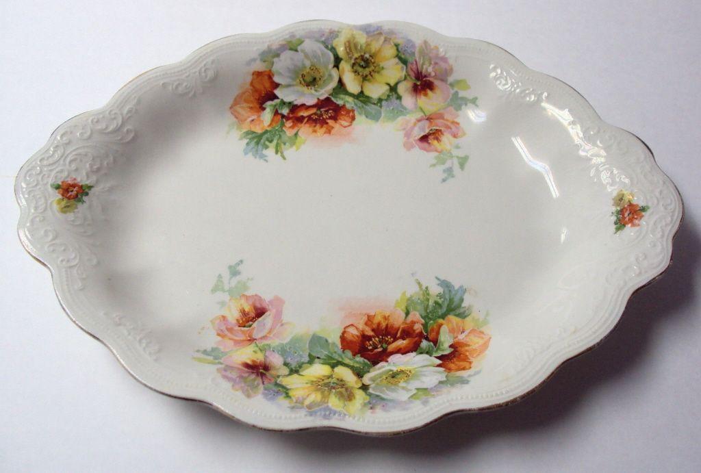 Platter Roses Royal Firenze China