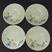 Four Iroquois China Sleepy Hollow Pattern Bowls