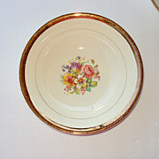 10 inch Dinner Plate 22kt gold rim floral center Stetson China USA