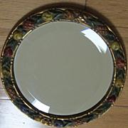 Splendid Vintage Carved Wood Frame with Beveled Mirror