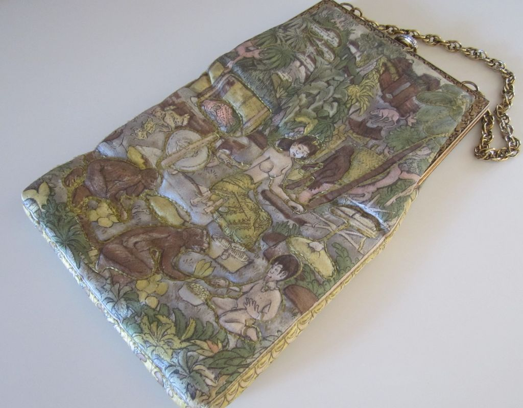 Delill Vintage Asian Quilted Purse
