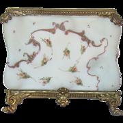 Antique  Wavecrest Floral Letter Holder