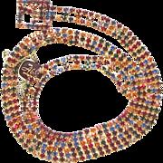 Vintage Multi Color Rhinestone Belt