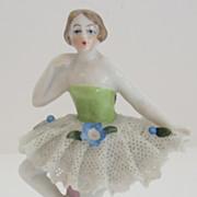 Lovely Sitzendorf Porcelain Ballerina Place Card Holder