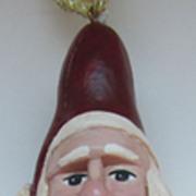 Hand Carved Vintage Ornament-Santa