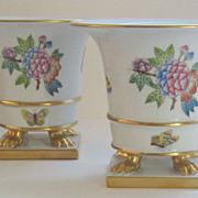 Beautiful Vintage Herend Queen Victoria Pair of Urns