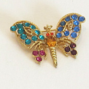 Sparkling Vintage Butterfly Brooch/Pin