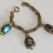 Vintage Gold Tone Charm Bracelet-Germany
