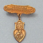 Medal Vintage Religious Gold Plate Bar
