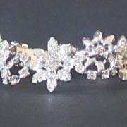 Vintage Kramer Rhinestone Flower Bracelet