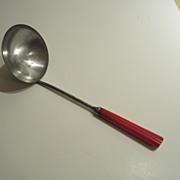 Vintage Red Bakelite Ladle - Vintage Kitchen Utensil