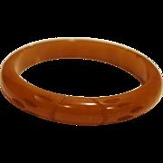 Butterscotch Bakelite Carved Bangle Bracelet