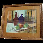Signed Raymond Callebaut Acrylic Still Life