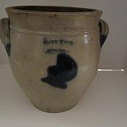 Clark & Fox Stoneware Athens NY Jug with Blue Decoration