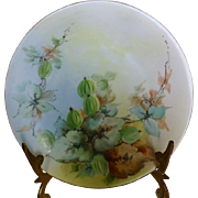 Ivy on Porcelain Plate by Uno Favorite hand painted. c 1910-1940