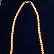 Vintage Coral Necklace with a Screw-On Barrel Clasp