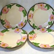 """4 Franciscan Desert Rose Salad Plates 7 7/8"""""""
