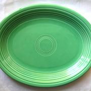 "Laughlin Fiesta Green Platter 12"" Vintage Older"