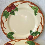"2 Franciscan Apple Earthenware USA Dinner Plates10 5/8"""