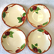 "4 Franciscan USA Apple Fruit Dessert Bowl Earthenware 5 1/4"""