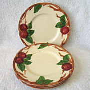 """4 Franciscan USA Apple Bread & Butter Plates Earthenware 6 1/2"""""""