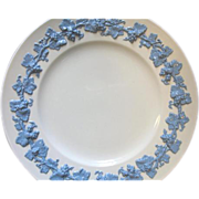 """Wedgwood Lavender Blue on Cream LARGE Dinner Plate (s) Queens Ware Grapes 10 7/8"""""""