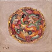 Roman Pizza Pie Oil Painting