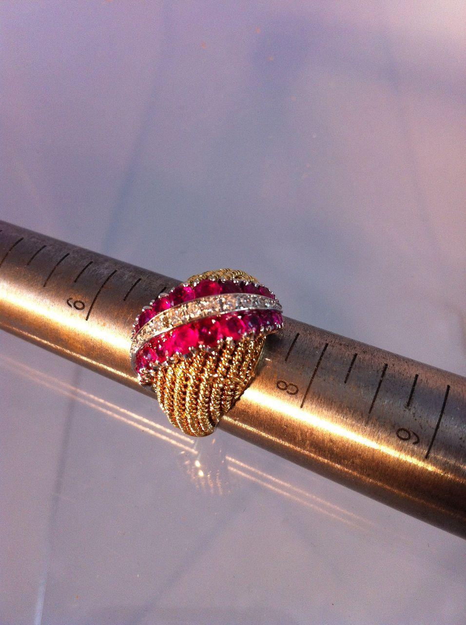Shreve & Co. Ruby & Diamond Ring