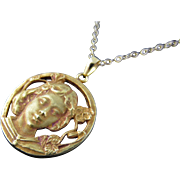 Burnished 20 Karat Gold Pendant (with chain)
