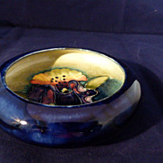 """Moorcroft Pottery Orchid Bowl  4.5"""" across"""