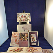 Collection of 12 Reproduced Vintage Christmas Post Cards Unused