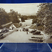 At The Trossachs Pier Real Photograph Post Card Scotland Loch Katrine