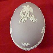 Wedgwood Lilac Jasperware Egg Shaped Box