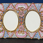 Vintage Micromosaic Double Picture Frame D 3 New Old Stock – Rare & Pristine