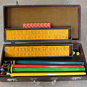 Vintage EASTERN SITTING SPARROW Mah Jong game - ready for NMJL play out of the box - 152 tiles