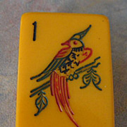 Vintage MET PERCHING PHEASANT Mah Jong game - ready for NMJL play out of the box - 152 tiles
