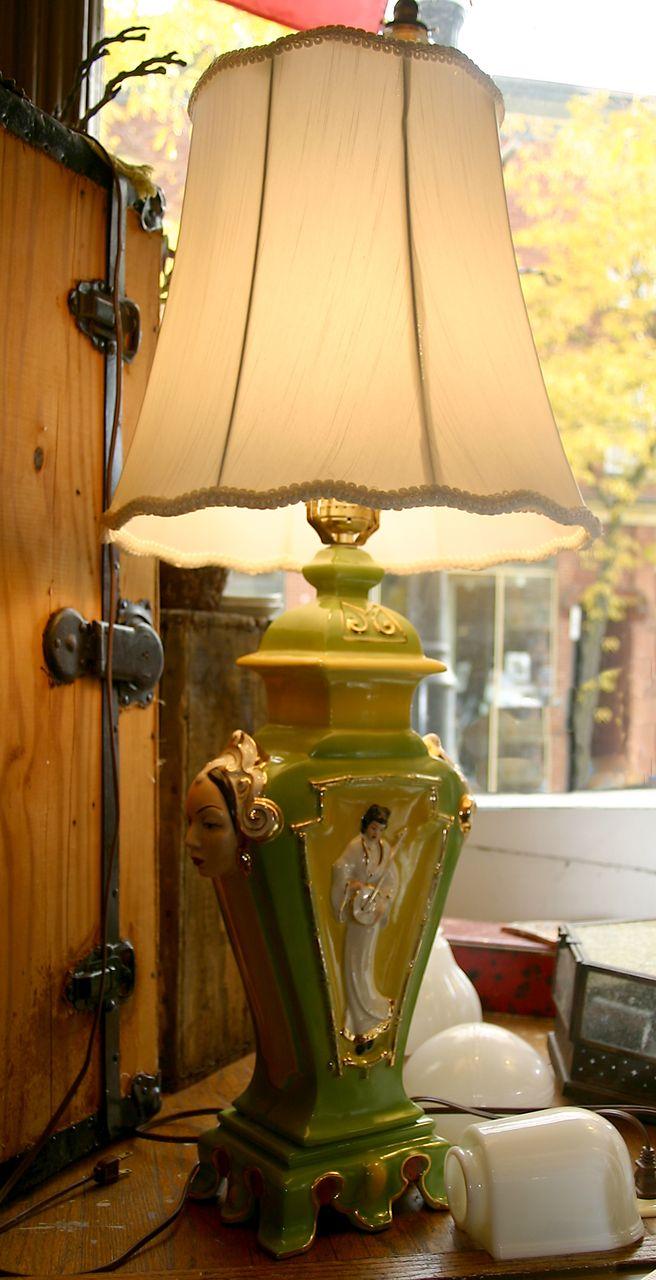 Unique Oriental Porcelain Lamp