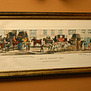 """Amazing! Framed Print Set, signed Thomas McLean  """"A Trip to Brighton"""""""