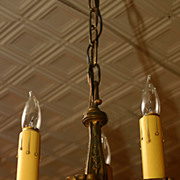Early 1900's Cast 3 light chandelier