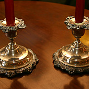 Pair of Silver Plated Candle Holders
