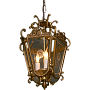 Wonderful Ornate Brass Hanging Lantern