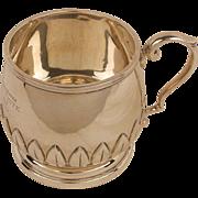 Vintage English Sterling Christening Mug c. 1931-Applied Leaves