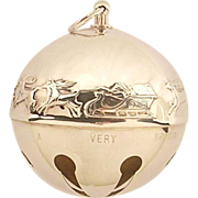 Vintage Wallace Sleigh Bells Holiday Ornament -RARE YEAR-1972-Santa's Sleigh