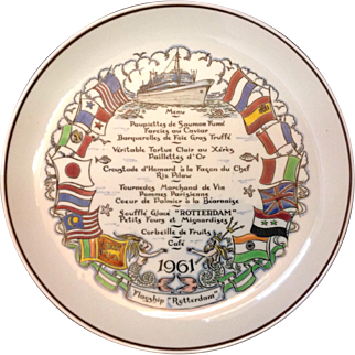 Final Sailing SS Rotterdam Holland America Royal Gouda Commemorative Plate