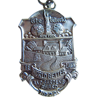 Vintage Sterling Silver, New York City Newspaper Garden Award Metal, Lambert Brothers, Dated 1928