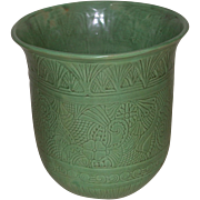 """Shearwater Pottery Large Vase Urn Jardiniere Floral Motif James McConnell """"Mac"""" Anderson c. 1940 Pre-Katrina marked"""