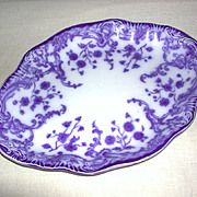 """Oval Platter W.H. Grindley and Co. Staffordshire Flow Blue """"Marie"""" c. 1800s"""